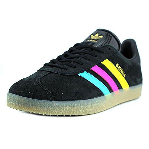 Adidas Gazelle Daim Baskets CBlack-Brcyan-Shopin