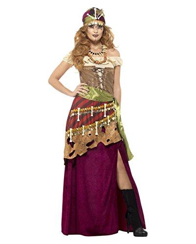 Voodoo Hexenkostüm Deluxe als hochwertige Halloween Verkleidung für Damen (Kostüm Mann Voodoo)