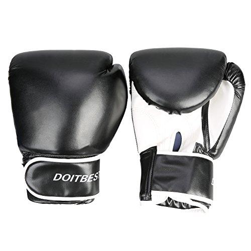 CCLIFE MMA Boxhandschuhe Schwarz - Geeignet für Boxen, Training, Sandsack, Boxsack, Freefight, Grapling, Kampfsport Test