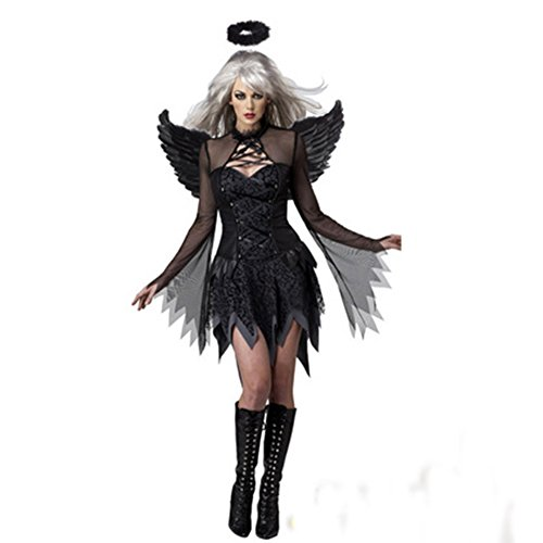 Nacht Teufel Kostüm - Hallowmax Damen Allerheiligen Nacht Engel TeufelHexe