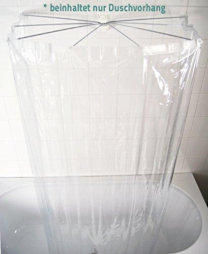 Ridder Ersatz-Duschvorhang Ombrella Transparent 210x170 cm