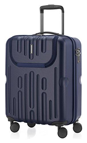 HAUPTSTADTKOFFER - Havel - Handgepäck mit Laptop-Fach Hartschalen-Koffer Kabinen-Trolley Rollkoffer, TSA, 54 cm, 41 Liter, Dunkelblau