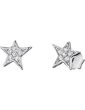 Engelsrufer Damen-Ohrstecker 925 Silber rhodiniert Zirkonia weiß - ERE-LILSTAR-ZI-ST