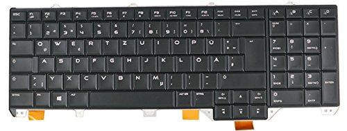 Nexpert Original QWERTZ Deutsche Tastatur für Dell Alienware M17x R4 R5 M17x-R4 M17x-R5 Serie DE mit Backlight beleuchtet Neu Schwarz -