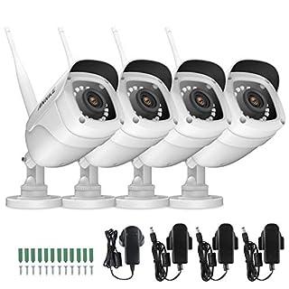 ANNKE 4PCS WLAN IP Kamera 1080P HD, Überwachungskamera, Außen IP66 wasserdicht IP überwachungskamera/IP cam,30Meter Infrarot Nachtsicht