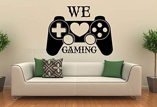WSJIABIN Vinyl Gamer Controller Tatuajes de Pared We Love Gaming Cita Etiqueta...