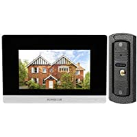 HOMSECUR Video Intercom Recording and Snapshooting System 7 Touch Button Monitor and 110 Wide View IR Camera HDW Series TM705R-TC021