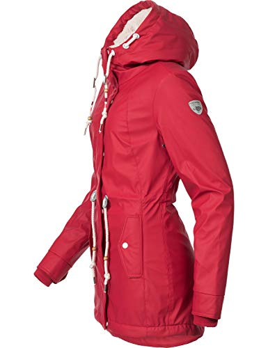 Ragwear Damen Outdoor-Jacke Regenparka Monadis Rainy Black Label Chilli Red Gr. L - 3