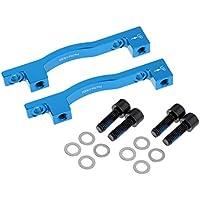 B Baosity 2 Piezas 203mm MT Bicicleta Delantera y Trasera Freno de Disco Adaptador de Montaje Soporte Azul