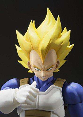 S.H. Figuarts Dragon Ball Z Super Saiyan Super Vegeta 13.5 cm aprox. PVC & ABS Painted Action Figure [Japan] , color… 4