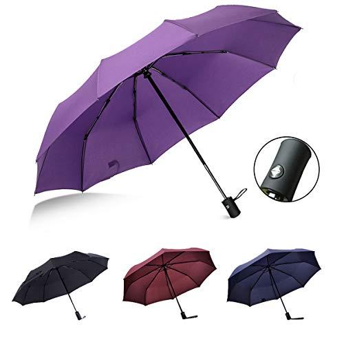 Suxman Paraguas Compacto y Resistente al Viento, Paraguas Plegable con Apertura y...