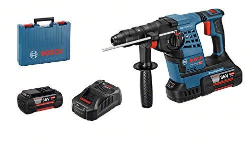 Bosch Professional 061190700B 2X 6,0 Ah, 36 Volt, in L-BOXX Akku-Bohrhammer GBH 36 VF-LI SDS-Plus, 36 V, blau