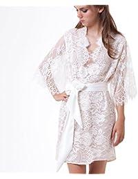 Bademantel Nachtwäsche Weibliche Pyjamas Homewear Sexy Frauen Robe & Kleid Sets Nette Rosa Spitze Satin Nachthemd 2 Stücke Nacht Kleid Nachthemd & Bademantel-sets