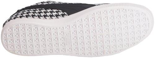 Puma Wns Nero Lo Schwarz Sneaker white 01 donna Glyde 354376 black Herringbone 1q1TxpnR