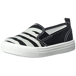Asahi Kid Toddler Slip On Sneaker Zebra Pattern Black Size: M Toddler