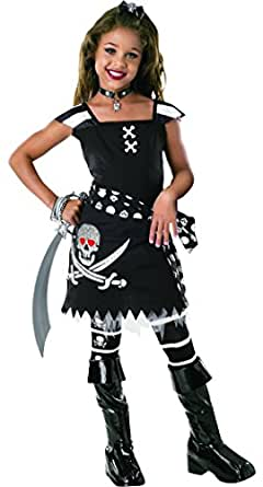 Rubie'S Costume Co Drama Queens Scar-Let Pirate Child Halloween Costume Size 5-7