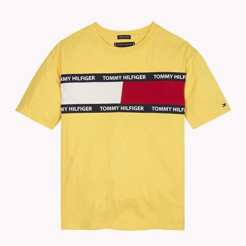 420873b1d Tommy Hilfiger U Flag Tee S/s T-Shirt, Giallo (Aspen Gold