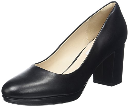 Clarks Women's Kelda Hope Closed-Toe Pumps, Black (Black Leather), 5 UK