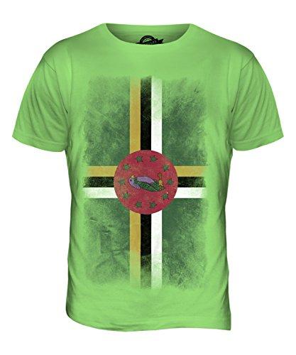 CandyMix Dominica Verblichen Flagge Herren T Shirt Limettengrün