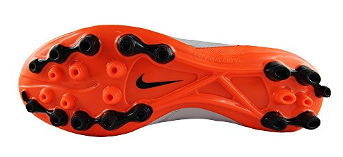 Nike - Tiempo Genio Ii Leather Ag-r, Scarpe da calcio Uomo Bianco (Blanco (White / Black-Total Orange))