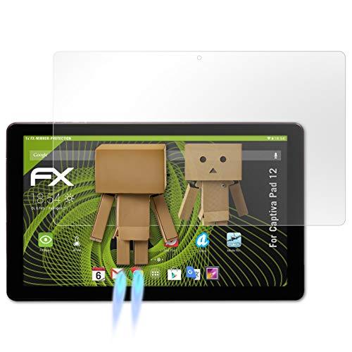 atFolix Bildschirmfolie für Captiva Pad 12 Spiegelfolie, Spiegeleffekt FX Schutzfolie