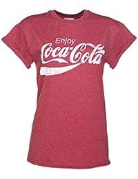 CocaCola Enjoy Boyfriendstyle Damen TShirt mit gerollten rmeln