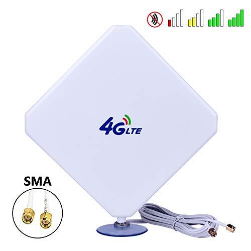 SMA 4G Hochleistungs LTE Antenne 35dBi WiFi Signal Booster Verstärker Modem Adapter Netzwerk Empfänger Antenne mit hoher Reichweite für Mobile Hotspots (SMA Stecker Male) Router Antenne Booster