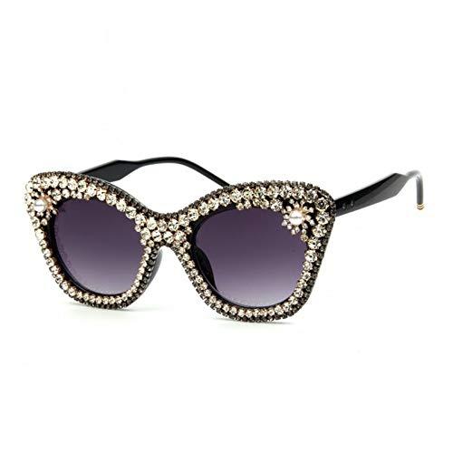 YLNJYJ Sonnenbrillen Sonnenbrillen Für Frauen Vintage Sonnenbrillen Luxury Crystal Cat Eye Sonnenbrillen Retro Shades Oculos De Sol