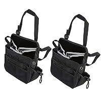BeGrit Multi-function Waterproof Car Seat Bag Back Organizer Holder Travel Storage Bag Black/Pack of 2