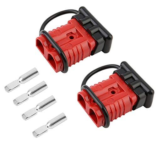 WEIWEITOE Anti Staub Feuchtigkeit 175A Batterie Quick Connect Plug Tool 2-4 Gauge Treiber Kit Recovery Winch Für Anhänger Fahrzeuge, rot & schwarz, -