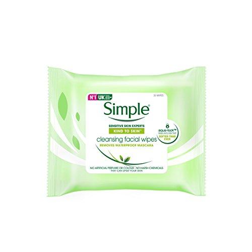 Simple Gesichtspflege Reinigungstücher, 25 Stück
