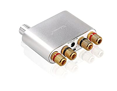 nobsound NS-10G Mini Bluetooth 4.0Amplificateur numérique?; 100W hifi Amp avec bloc d'alimentation (Argent) par Nobsound
