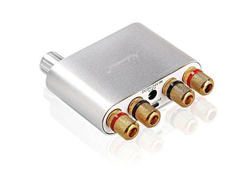 Nobsound NS-10G Mini Bluetooth 4.0 Digitaler Verstärker; 100W HiFi Amp mit Netzteil (Silber) (Mini-verstärker Netzteil Mit)