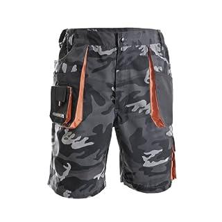 Herren Shorts camouflage/schwarz/orange Größe 48