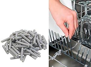 Sichler Haushaltsgeräte Küchenzubehör: 100er-Pack Universal-Schutzkappen für...