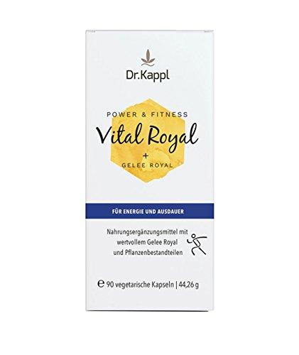 Dr. Kappl Vital Royal - komplexes Naturprodukt zur natürlichen Stärkung des Wohlbefindens | innovative Kombination aus Vitalpilzen, Gelee Royal, Coenzym Q10, Sibirischem Ginseng & Vitaminen der B-Gruppe | hochdosierte vegetarische Kapseln mit vitalisierender Wirkung | 90 Kapseln -