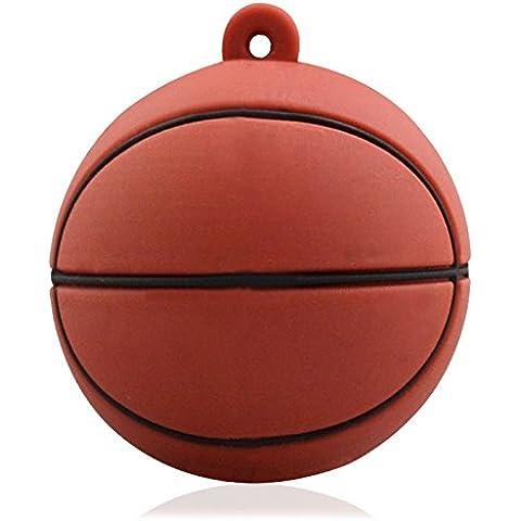 818-Shop no6900080008 Hi-Speed 2.0 USB PenDrive 8GB pallacanestro sportivo 3D marrone