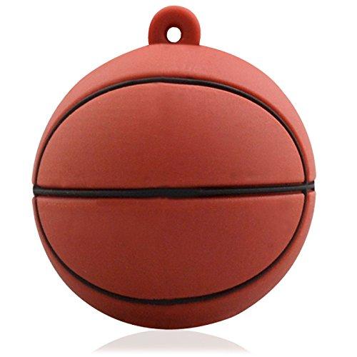 818-Shop No6900080008 Memorias USB baloncesto 3D (8 GB), color marrón