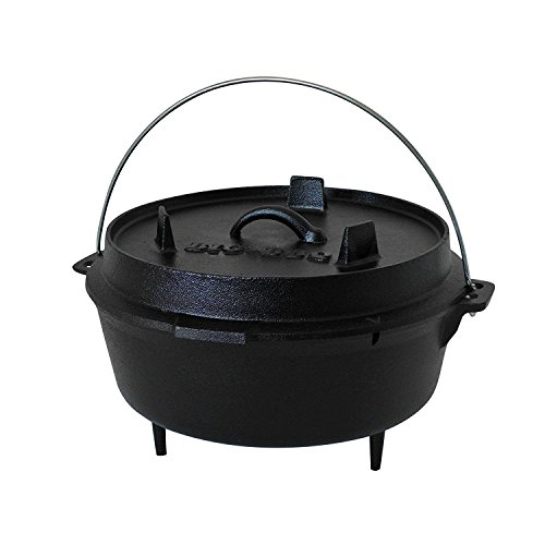 ToCis Big BBQ Big-BBQ DO 4.5 Premium Dutch-Oven made of cast-iron | Pre-Seasoned 10' cast iron cooking pot | with lid lifter | with legs
