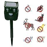 Repelente de Animales Ultrasónico y Sonido LED Flash Repelente de Animales Repelente de plagas