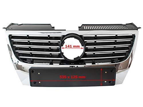 Ersatzteil Auto Front Kühler Grill Lufteinlässe zwischen Scheinwerfer schwarz Chrom für breite - Passat Grill