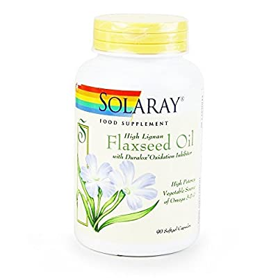 Solaray Flaxseed Oil Capsule - Pack of 90 by Solaray