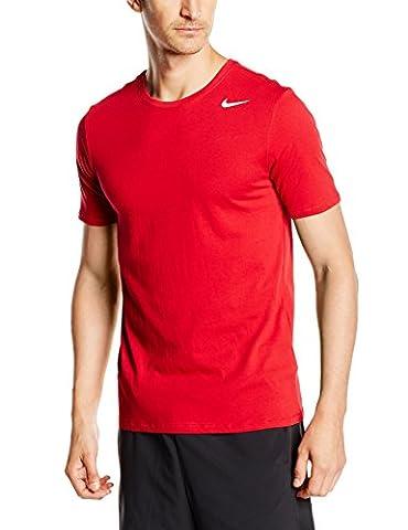 Nike Herren T-shirt Dri Fit Version 2.0, 706625-687, Red (Gym Red/White), Gr. M