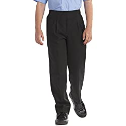 Pantalones de uniforme de colegio para niños de Direct Uniforms; resistentes, estilo formal Negro negro Large