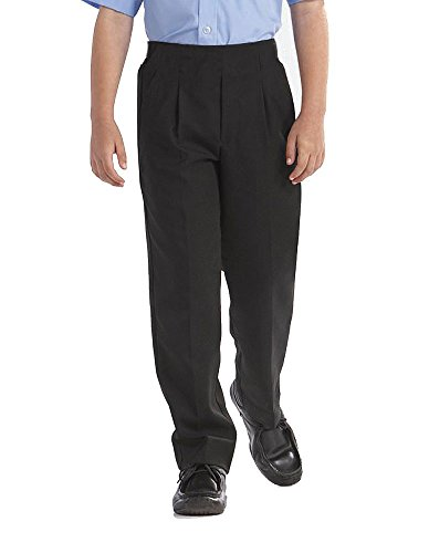 Direct Uniforms BOYS PLUS SIZE/STURDY FIT SCHOOL TROUSERS SHORT LEG (L Waist 32-36