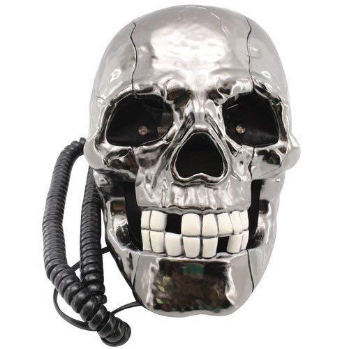 Neuheit blinkende LED Augen Rustikal Schädel Gerippt / Verkabelt Wunderland Leine Phone (nicht netzbetriebene)