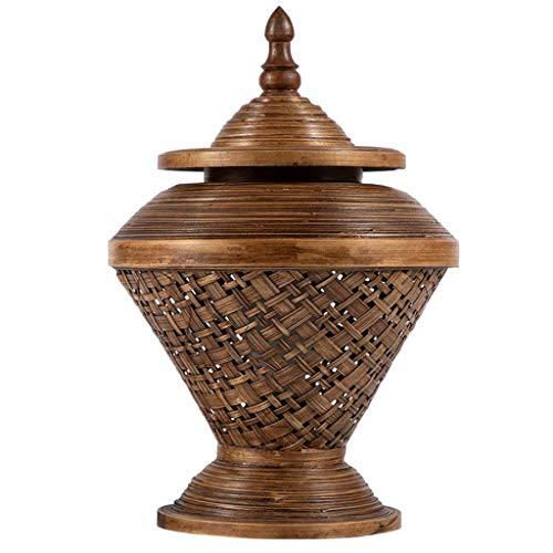 Solid wood table lamp Bambus Tischlampe Wohnzimmer Schlafzimmer Lampe Bambus Kunst Bett Lampe Hotel Clubhaus Retro kreative Dekoration Lampe, Gras Rebe \ Bambus -