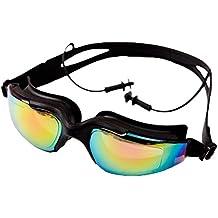 4addbce9be3660 Universal HD UV brouillard d eau Lunettes de natation 3 --- Noir