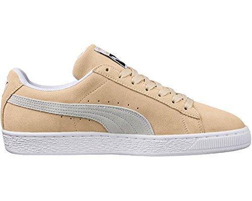 Puma Unisex Suede Classic Sneaker Beige (Pebble-Puma White-Puma White)
