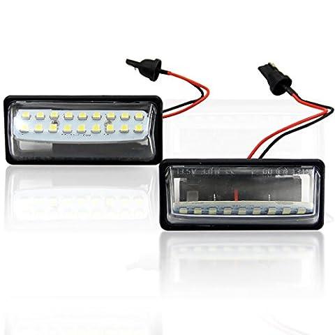 WIN Puissance LED arrière plaque de licence Générale Bar Bright Lampe 18SMD LED blanc pour Nissan Teana, sans erreur